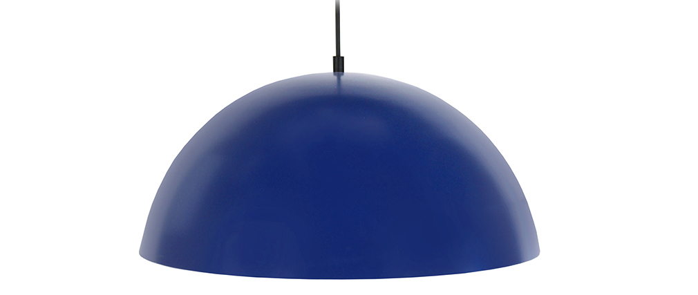 Suspension demi-sphère design bleu POG
