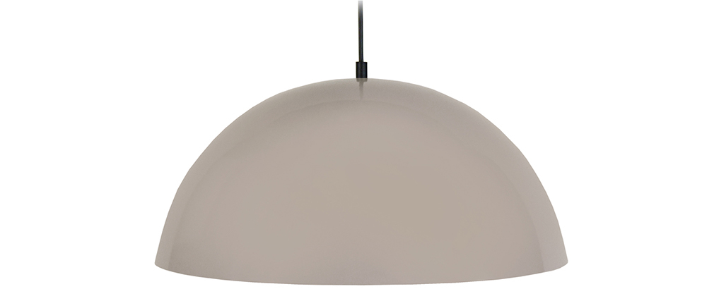 Suspension demi-sphère design taupe POG
