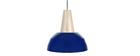 Suspension design bleu et bois PULSE