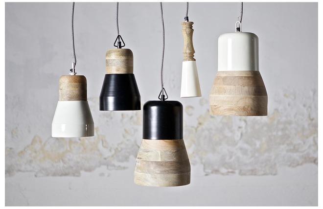 luminaire bois et blanc. Black Bedroom Furniture Sets. Home Design Ideas
