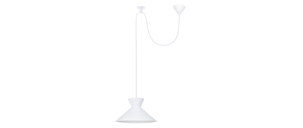 Suspension design métal blanc LEEDS