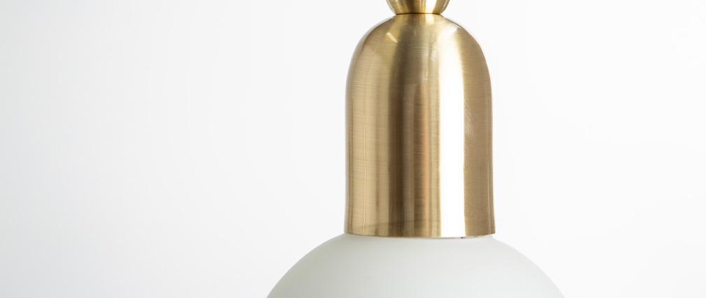 Suspension design métal laiton et globe verre BULB