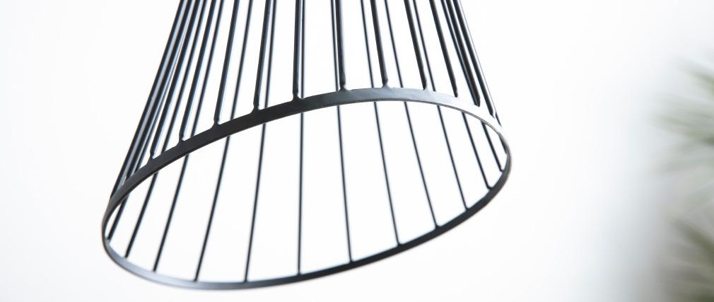 Suspension design métal noir MARYLIN