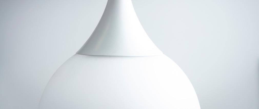 suspension design verre blanc 30 cm DUKE
