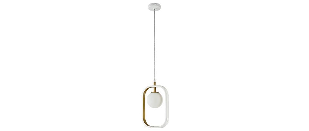 Suspension design verre et métal doré AVOLO