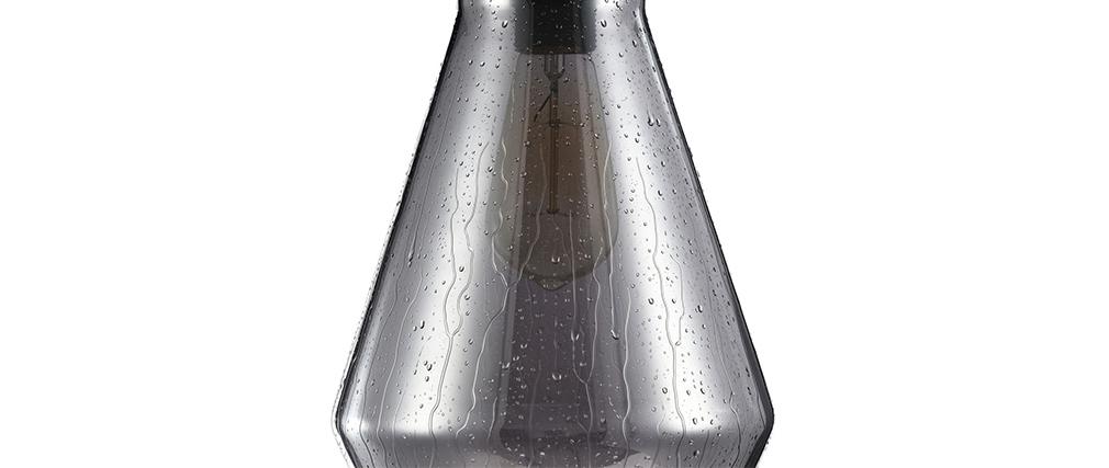 Suspension design verre fumé effet gouttes DROP