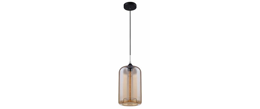Suspension design verre soufflé fumé MILAN