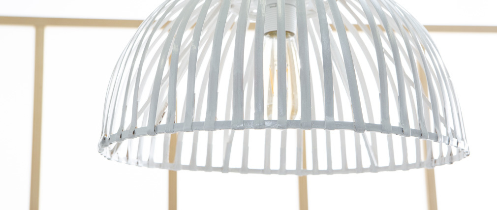 Suspension en bambou blanche SAVAGE