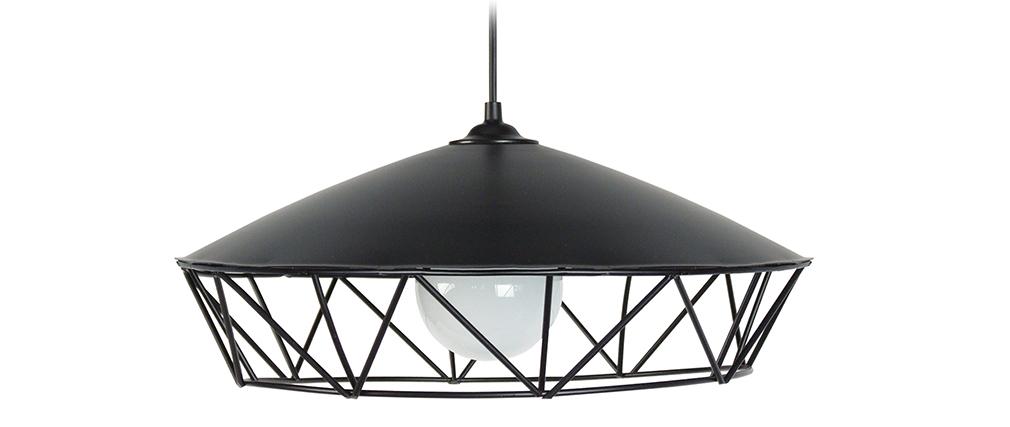 Suspension filaire design métal noir BRIDGE