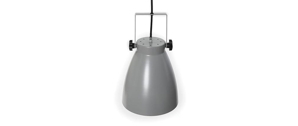 Suspension industrielle gris LOWIE