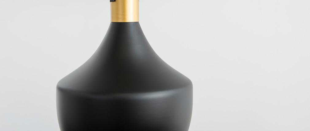 Suspension métal noir D25cm TUBAE