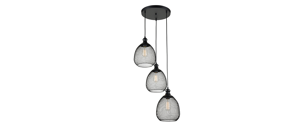 suspension multiple design métal noir ASTRAL