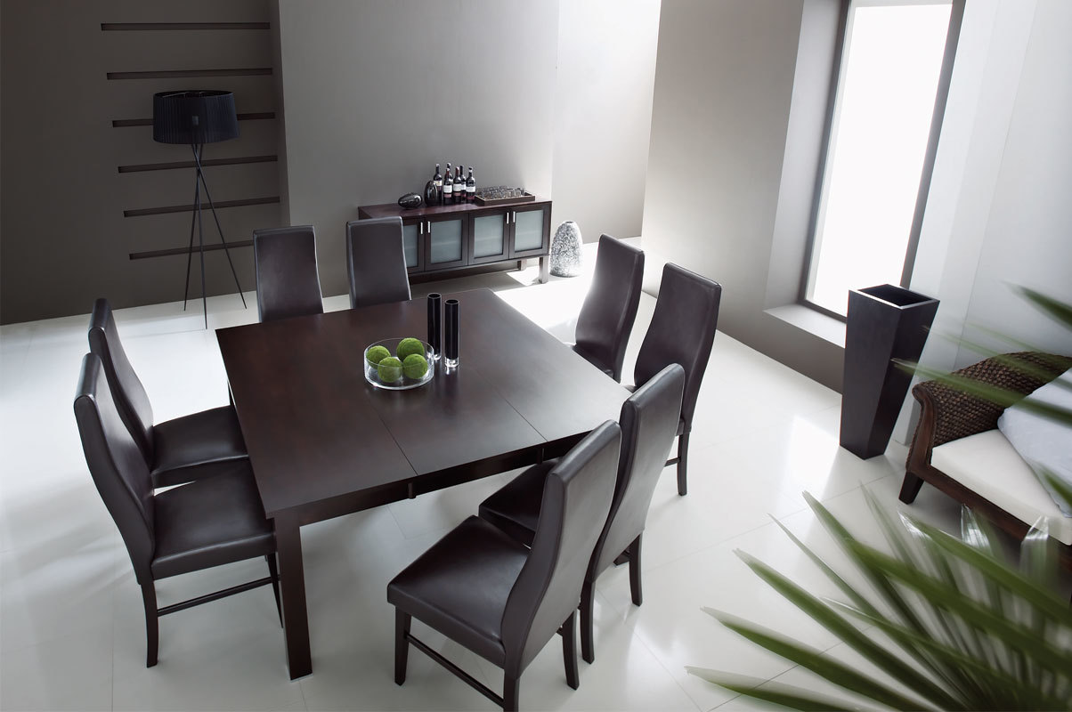 Chambre wenge deco for Table salle a manger wenge