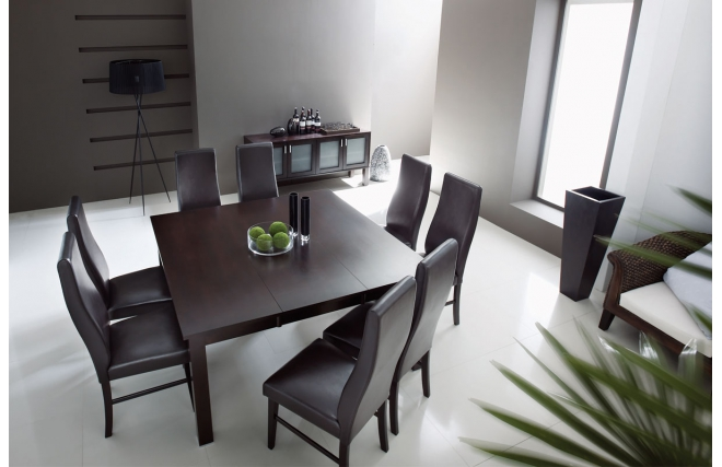 table de salle manger extensible. Black Bedroom Furniture Sets. Home Design Ideas