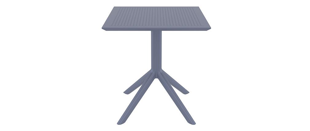 Table à manger carrée design grise intérieur / extérieur OSKOL