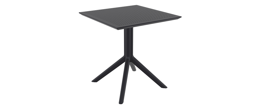 Table à manger carrée design noire intérieur / extérieur OSKOL