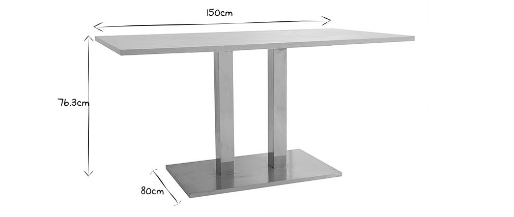 Table à manger design 150x80 Bois blanchi FILIA