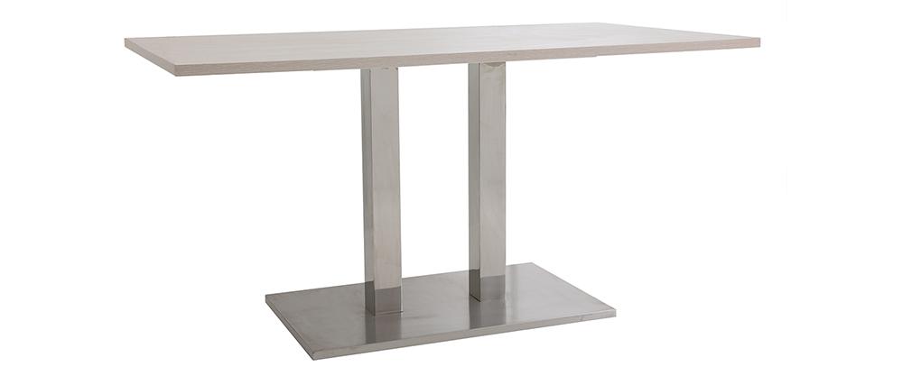 table manger design 150x80 bois clair filia miliboo. Black Bedroom Furniture Sets. Home Design Ideas