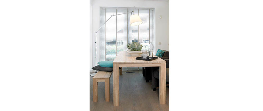 Table à manger design 180x85 en chêne LUPA