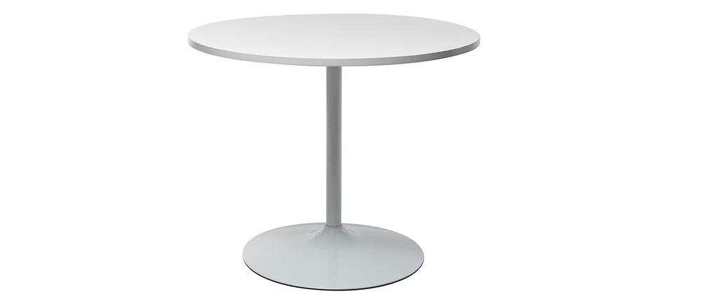 Table à manger design 90cm blanc CALISTA