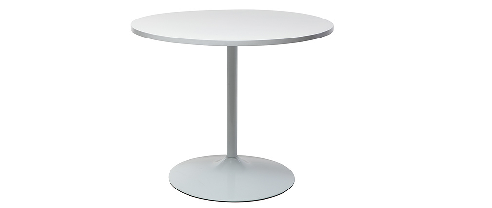 Table à manger design blanc D90 CALISTA