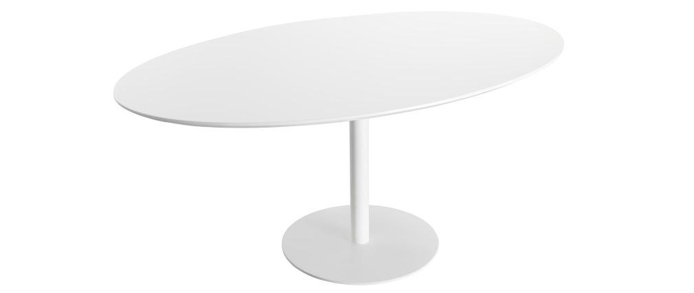 Table à manger design blanche L169 HALIA