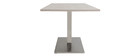 Table à manger design bois blanchi L150 cm FILIA