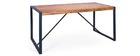 Table à manger design bois de sheesham et metal 180cm CARVED