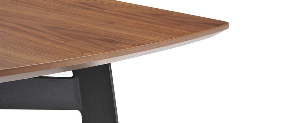 Table à manger design bois et métal 200cm KARO