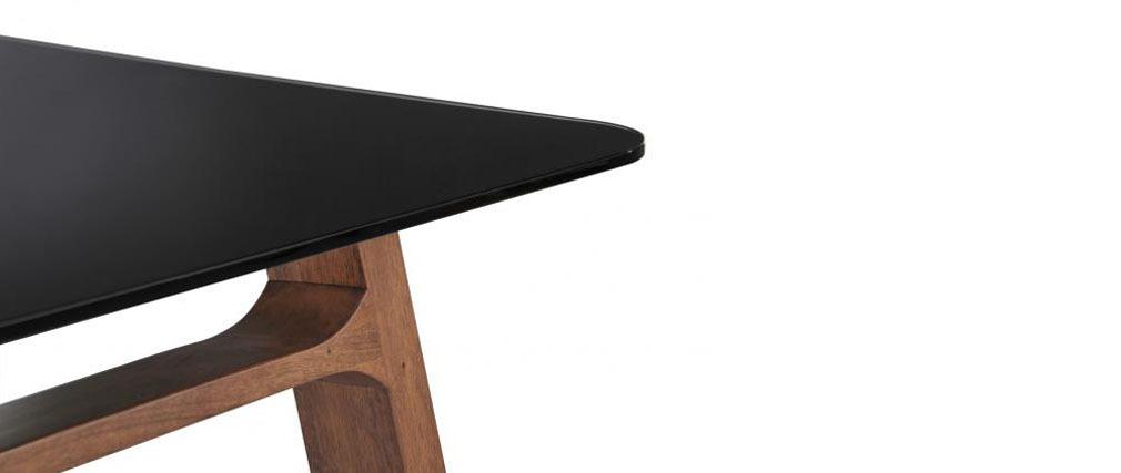 table manger design bois et verre tremp 180cm elsa miliboo. Black Bedroom Furniture Sets. Home Design Ideas