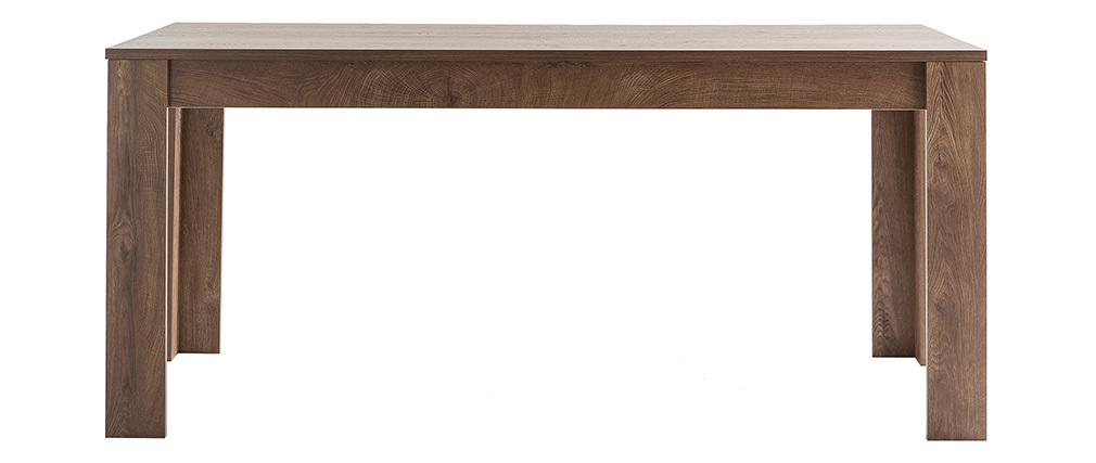 Table à manger design bois foncé 180 cm LAND