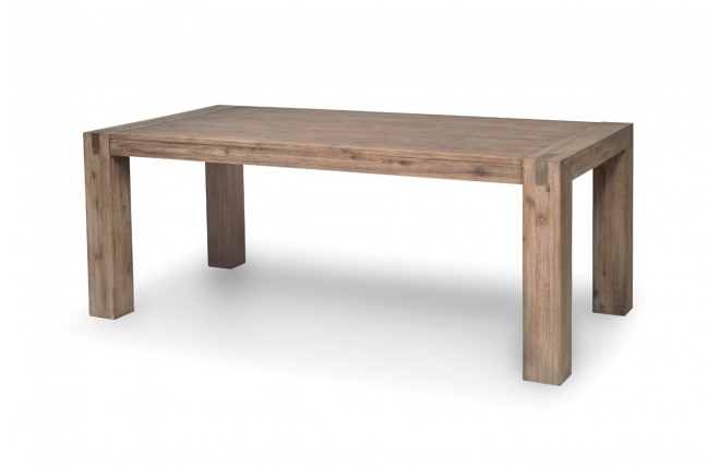 Table manger design bois massif gris melbourne miliboo for Table salle a manger design bois massif