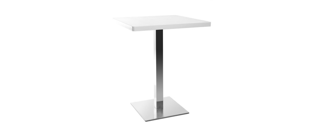 Table manger design carr blanche pied central jory for Table a manger blanche design