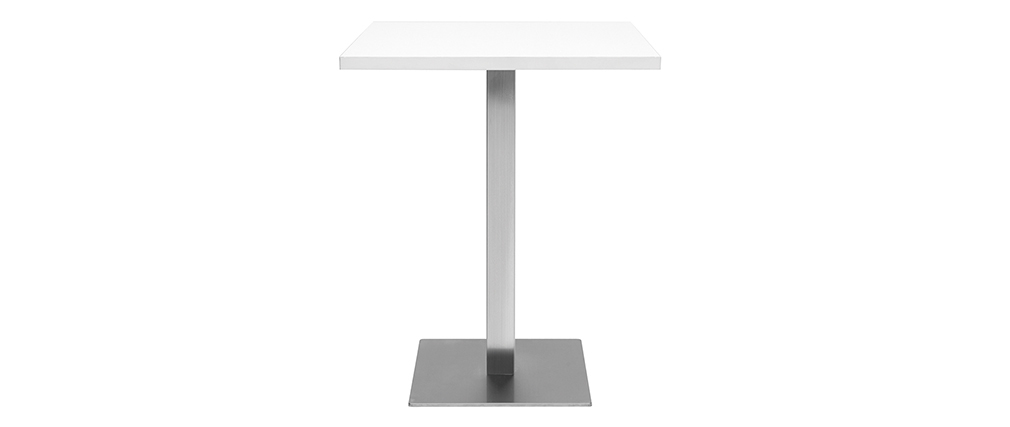 Table à manger design carrée blanche JORY