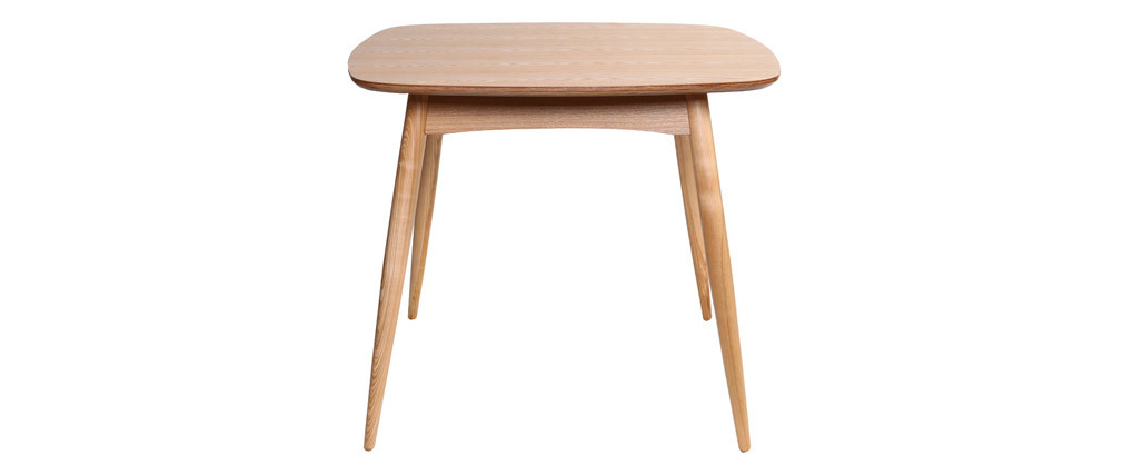 Table à manger design carrée frêne naturel BALTIK