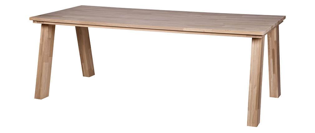 table manger design ch ne massif naturel 220x95cm miliboo. Black Bedroom Furniture Sets. Home Design Ideas