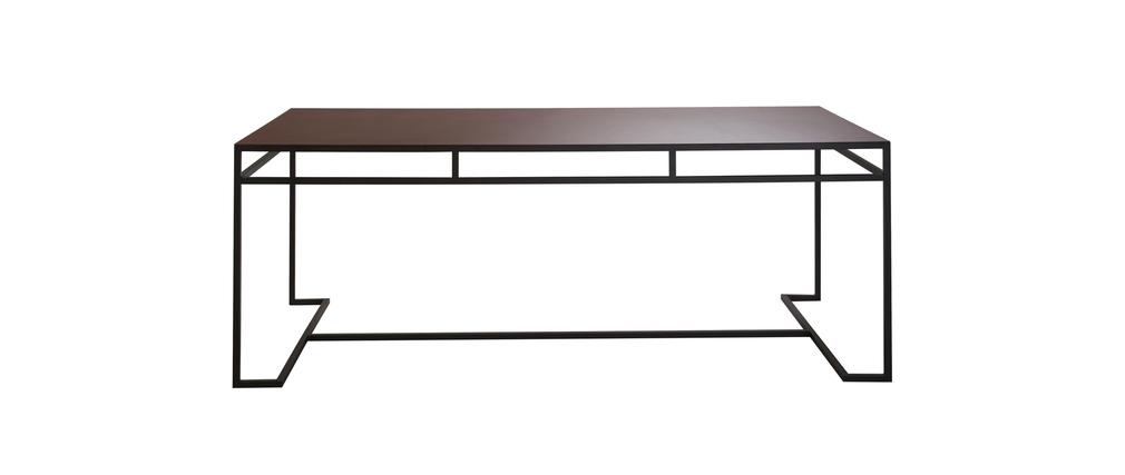 table manger design effet rouille surface miliboo. Black Bedroom Furniture Sets. Home Design Ideas