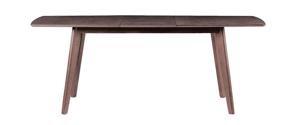 table manger design extensible 150 cm 44cm bois chocolat leena miliboo. Black Bedroom Furniture Sets. Home Design Ideas
