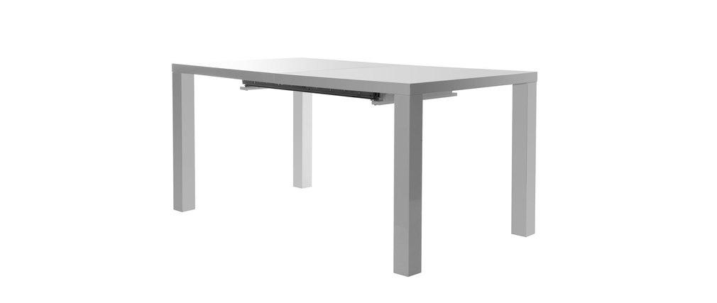 table manger design extensible 160 200x90 karyes blanc miliboo. Black Bedroom Furniture Sets. Home Design Ideas