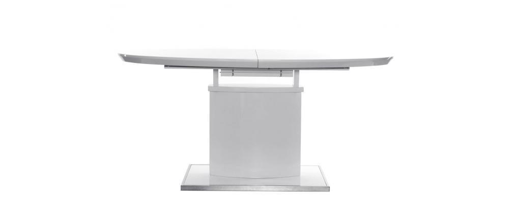 Table à manger design extensible blanche L160-200 CLEONES