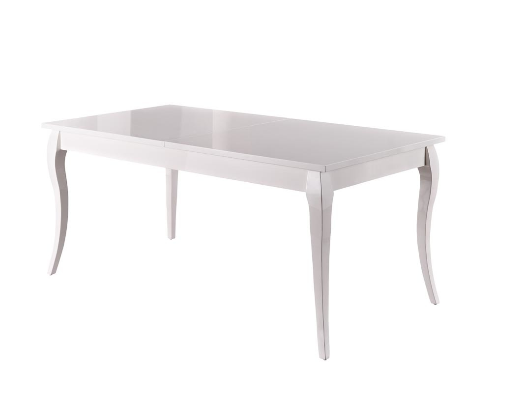 Table manger design extensible blanche moliere miliboo for Table a manger blanche