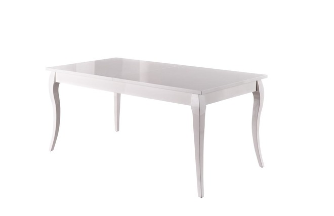 Table manger design extensible bois weng lydy zoom for Table a manger blanche extensible