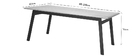 Table à manger design extensible bois chêne et métal L190-240 MARNY