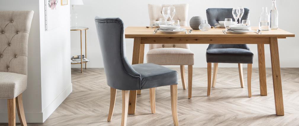 Table à manger design extensible bois L160-205 cm HONORE