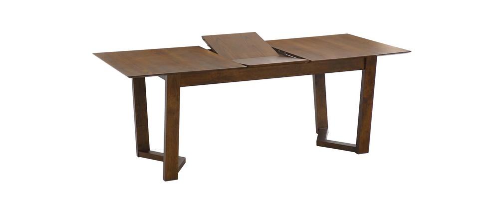 table manger design extensible bois massif chocolat vally miliboo. Black Bedroom Furniture Sets. Home Design Ideas