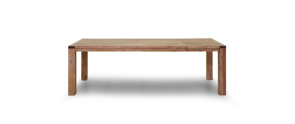 table manger design extensible bois massif sienna miliboo. Black Bedroom Furniture Sets. Home Design Ideas