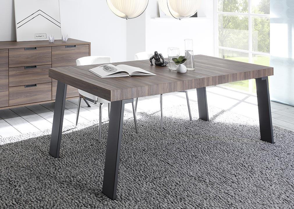 Table à manger design noyer et métal ORIGIN