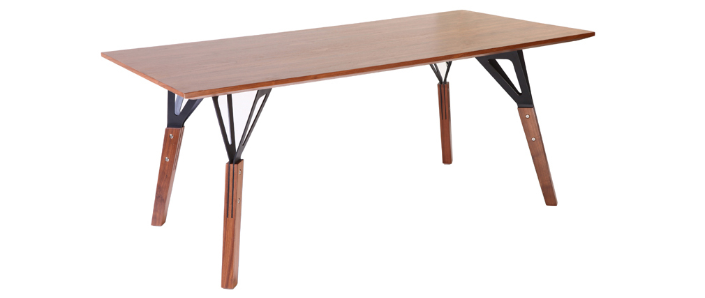 Table à manger design noyer L180 cm WADDEN