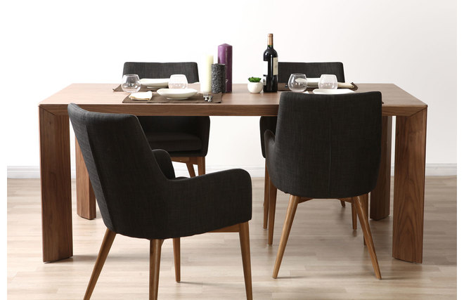 table manger design noyer louna miliboo. Black Bedroom Furniture Sets. Home Design Ideas