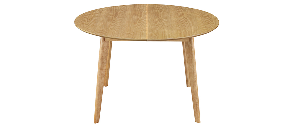 Table à manger design ronde extensible chêne L120-150 cm LEENA